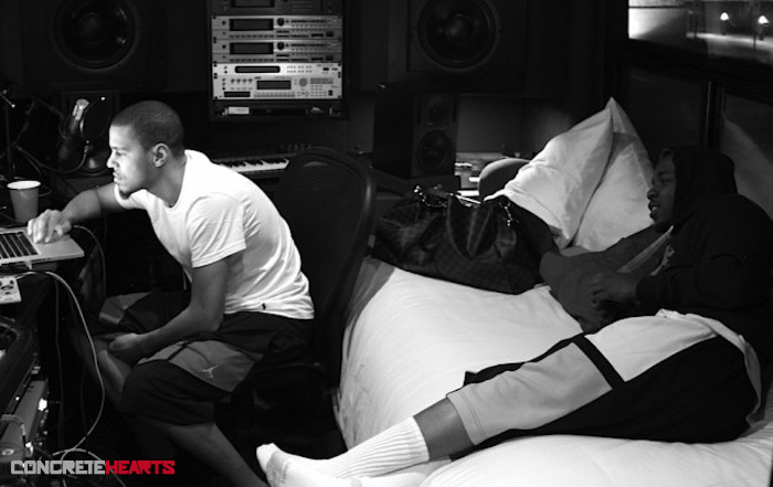J.Cole-and-Kendrick-Lamar-in-the-studio